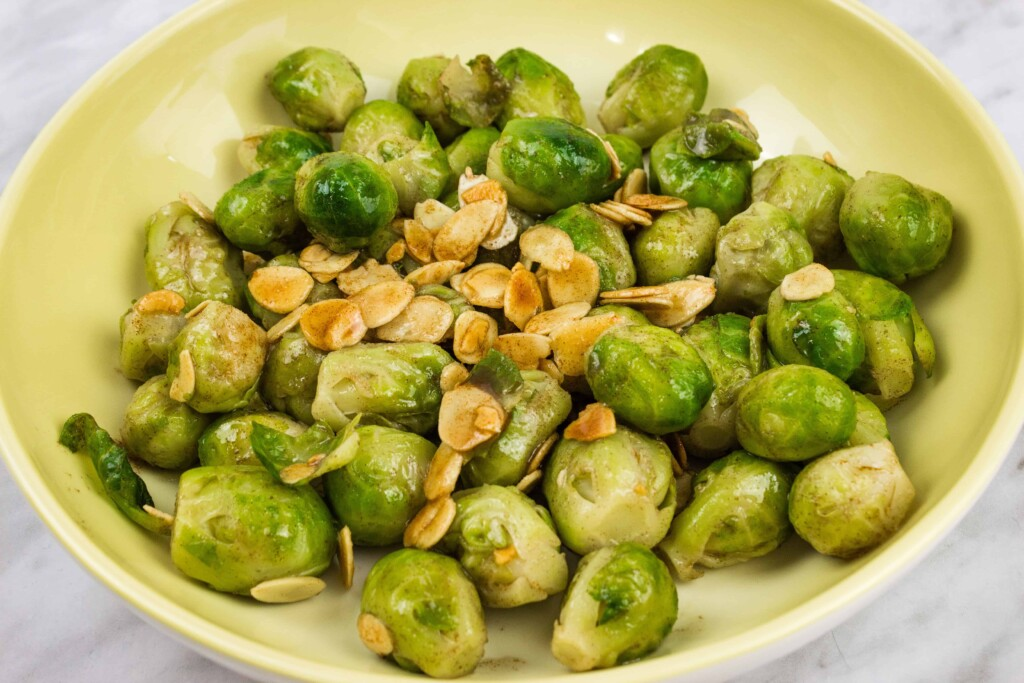 brussels sprouts with brown butter and almonds