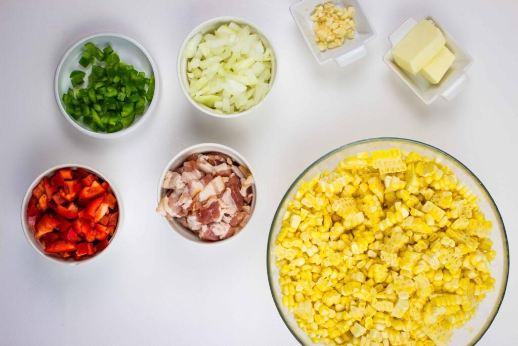ingredients to make Texas corn succotash