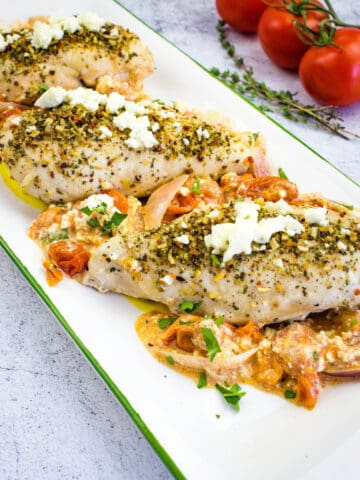 Mediterranean Chicken Bake with Feta and Tomatoes