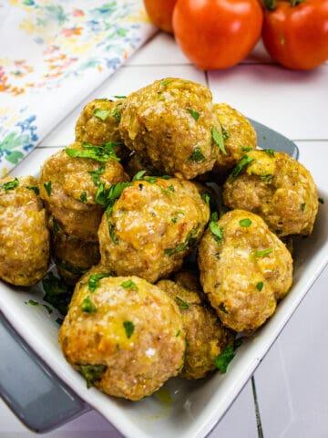 air fryer turkey meatballs in a bowl