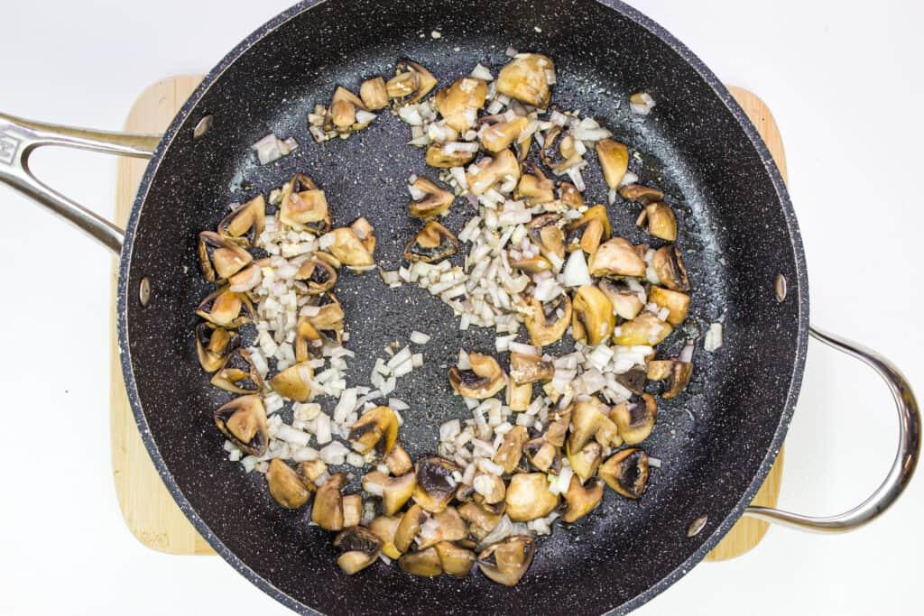 add the shallots and garlic