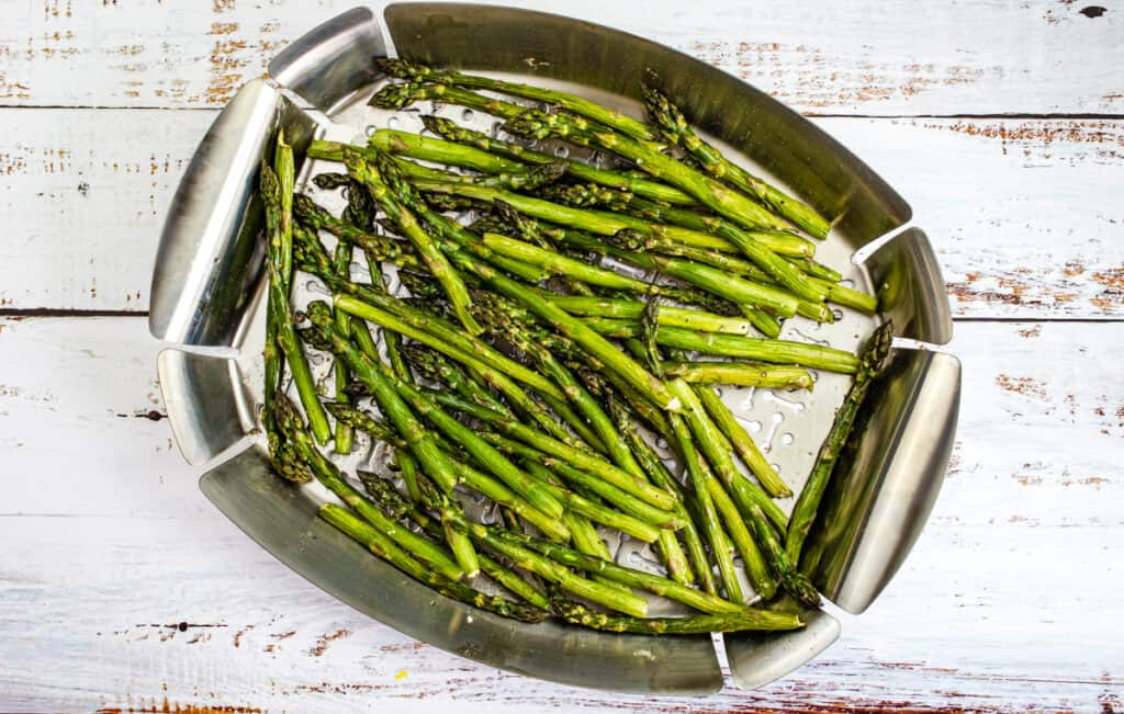finished smoked asparagus
