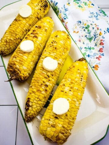 roasted air fryer corn on the cob