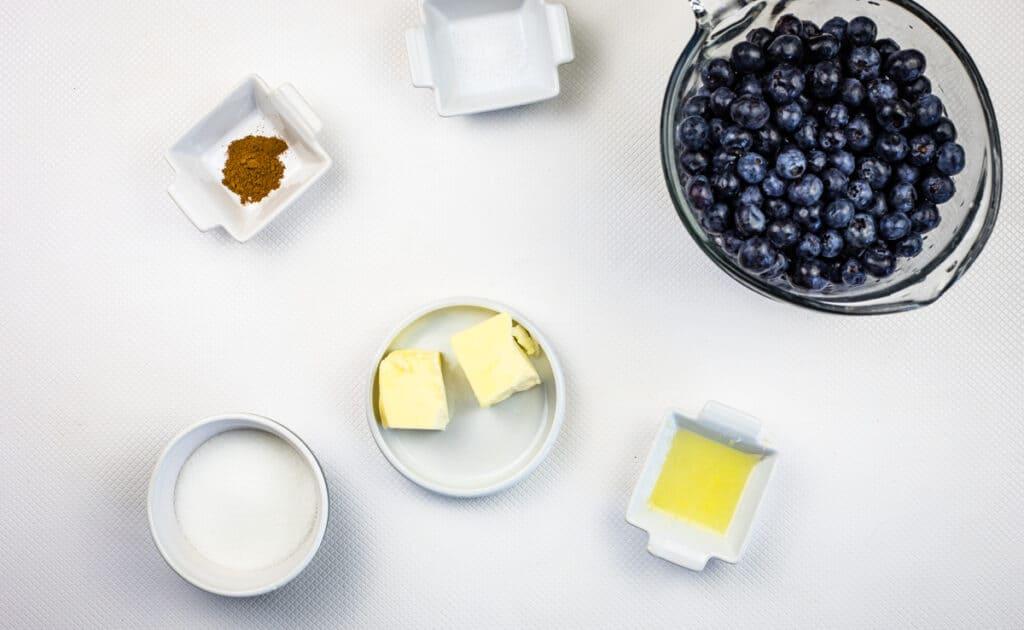 ingredients to make blueberry grunt recipe