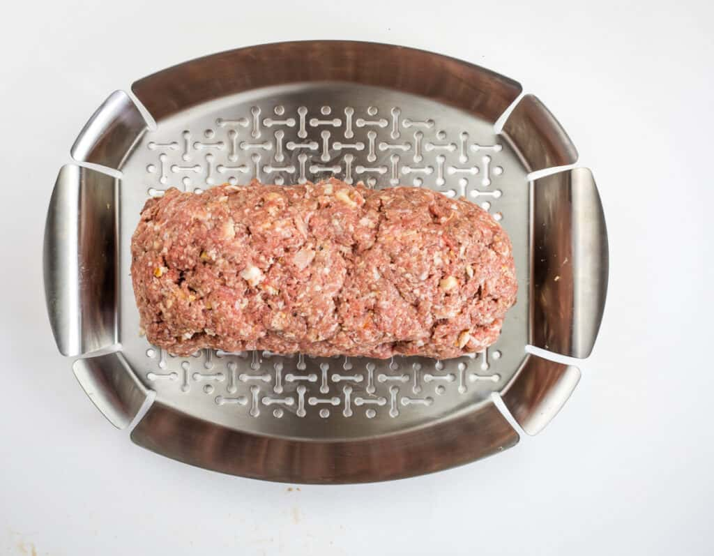 meatloaf on a grill pan
