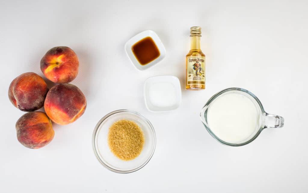ingredients to make smoked peaches