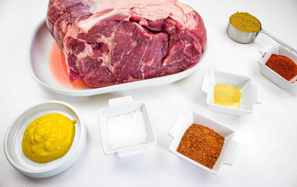 ingredients to make smoked pulled pork