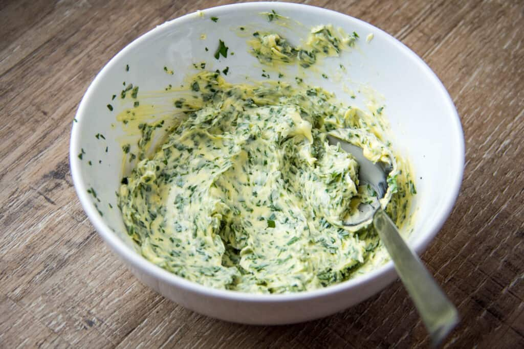 compound butter in a bowl