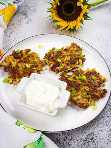 corned beef fritters on a plate