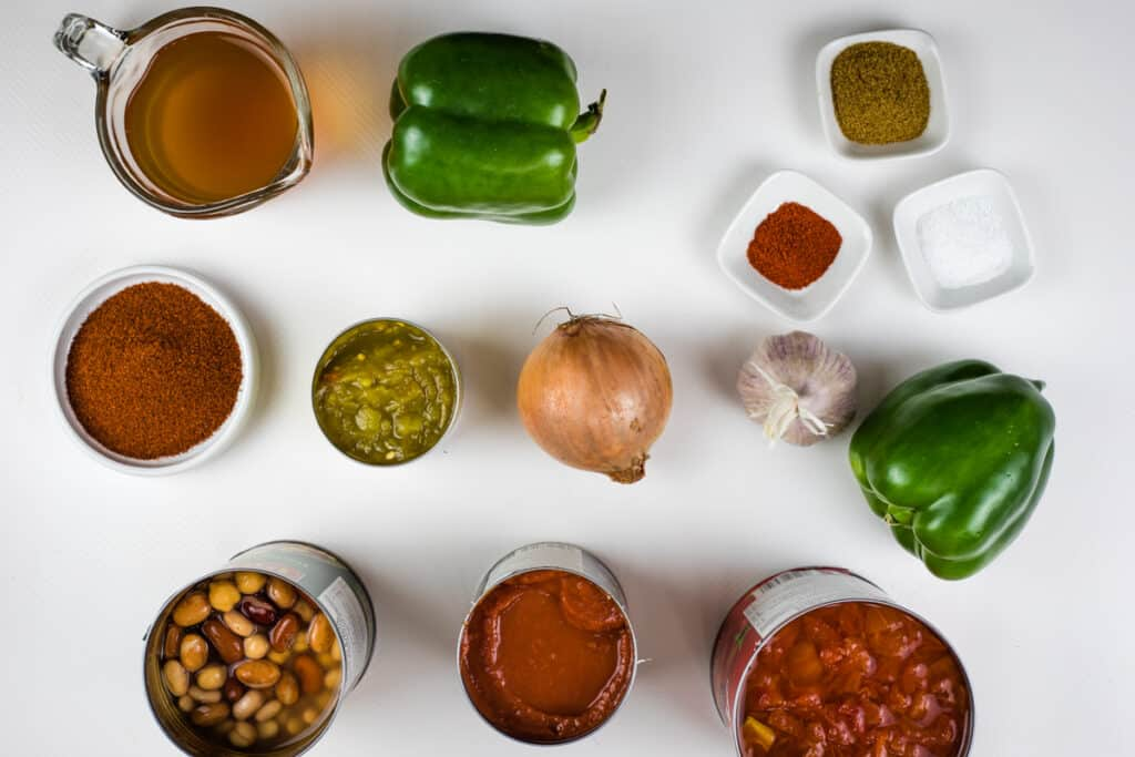 ingredients to make over the top chili