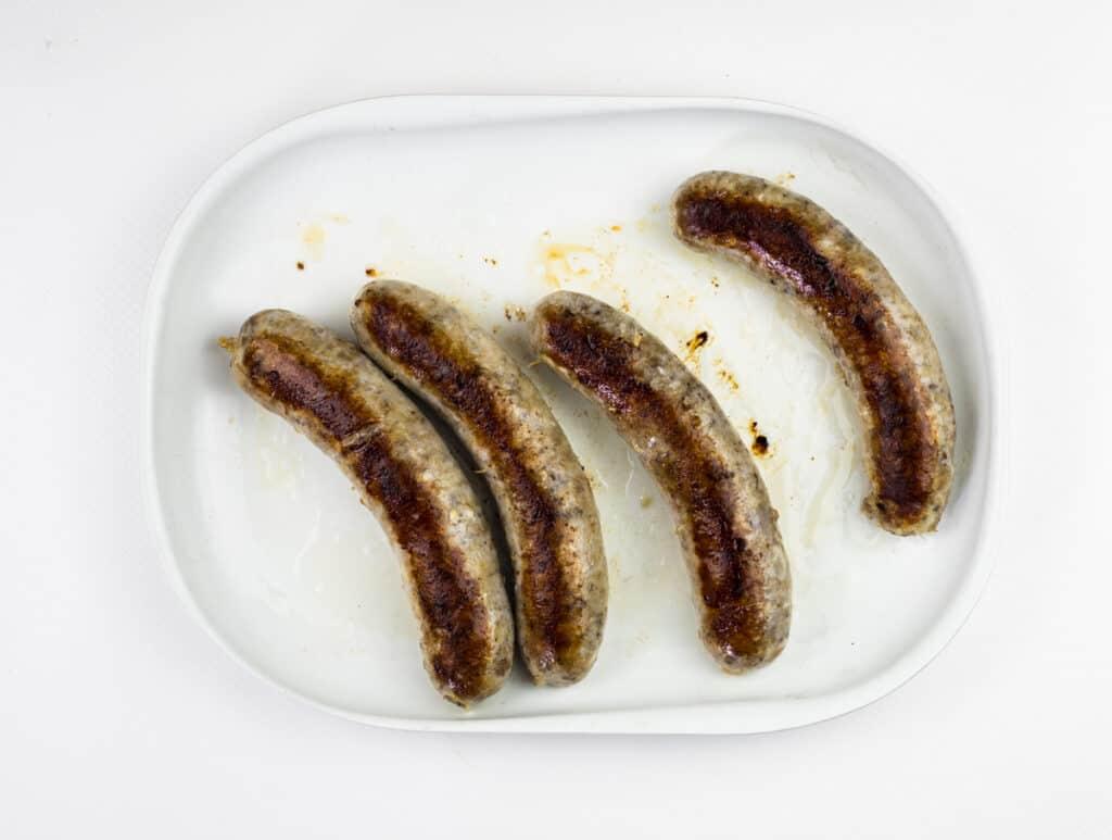 browned sous vide sausage