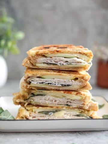 turkey & apple panini