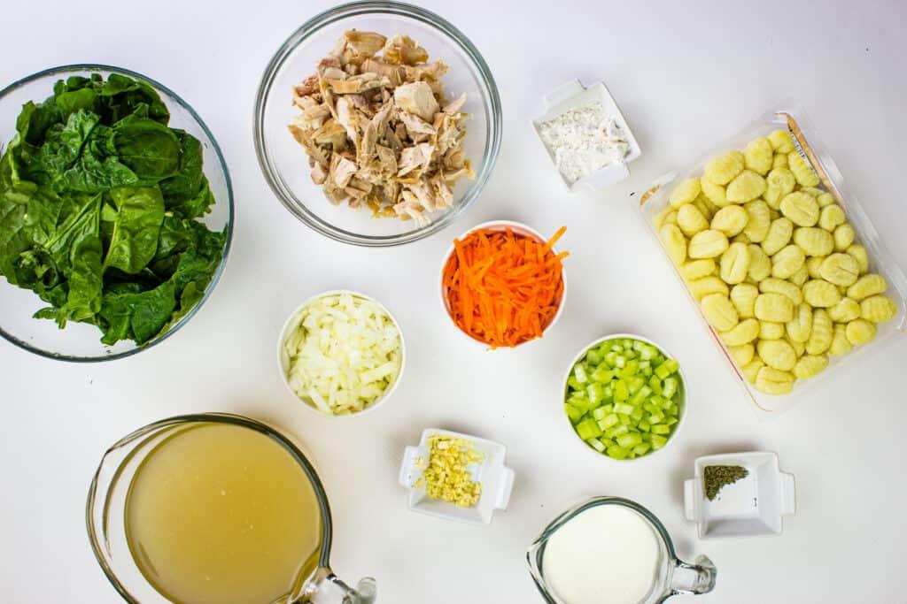ingredients to make chicken gnocchi soup