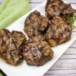 smoked lamb chops on a plate